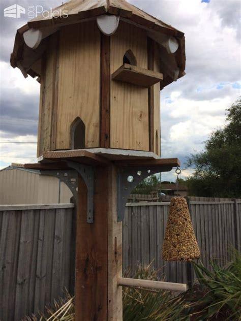 pallet dovecote birdhouse   birds  pallets