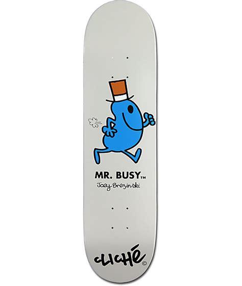 Cheap Cliche Skateboard Decks by Cliche Brezinski Mr Busy 8 0 Quot Skateboard Deck