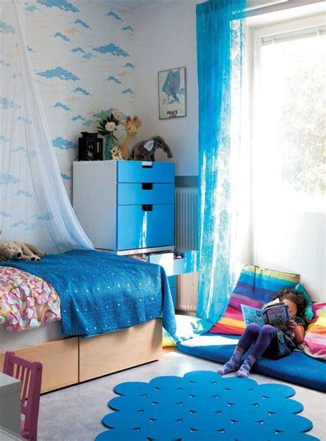 blue themed childrens room  stuva malad drawer range   ikea family kids room