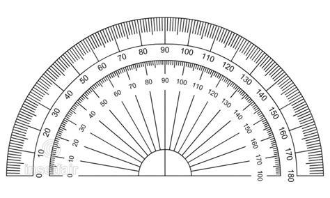 degree circular protractor  transparent color