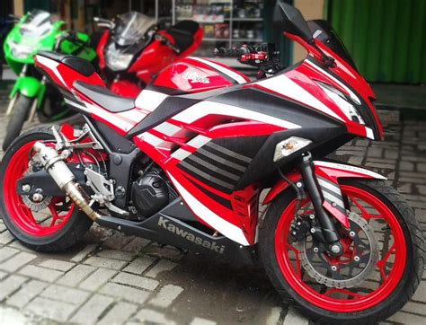 Modifikasi Rr Warna Merah by Kawasaki 250 Fi Merah Modifikasi Cutting Sticker