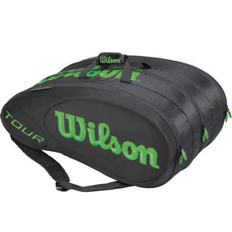 wilson  molded  pack tennis bag blackgreen