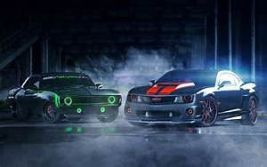 Camaro New vs Old - HDWallpaperFX