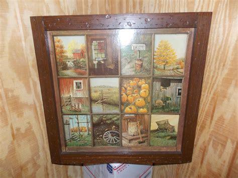 Vintage Homco Home Interior Interiors Window Pane Picture
