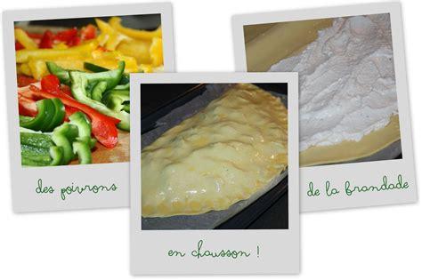 chausson cuisine chausson de poivrons et brandade les 5 sens en cuisine