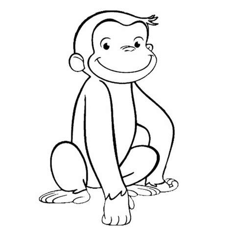 disegni da colorare di george disegno di scimmietta george da colorare per bambini