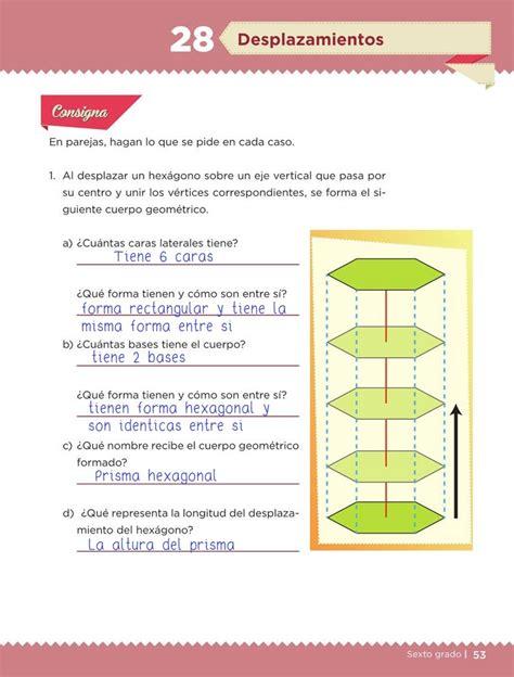desplazamientos desaf 237 o 28 desaf 237 os matem 225 ticos sexto contestado tareas cicloescolar