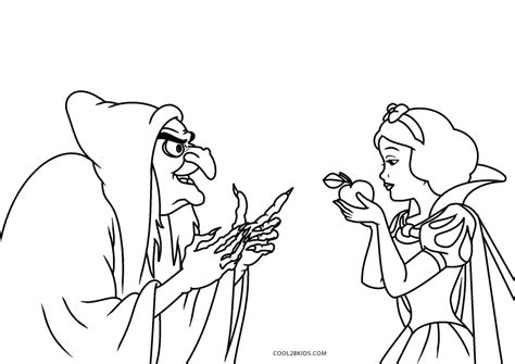 printable snow white coloring pages  kids