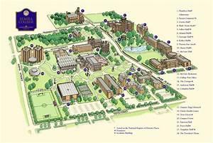 Campus map, Elmira College | College Story | Pinterest ...