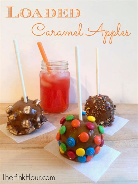 Caramel Pink Apples by The Pink Flour Loaded Caramel Apples With Punch