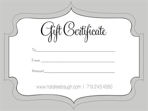 cute  gift certificate  gift certificate