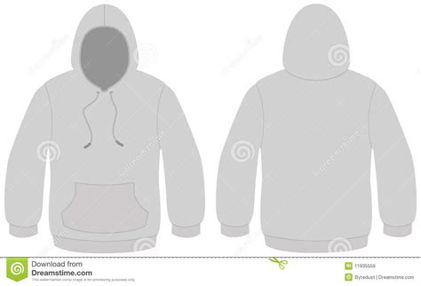 sweater template hooded sweater template vector illustration stock vector illustration 11935559