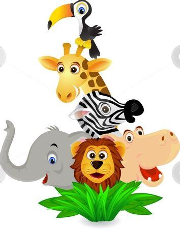 cartoon jungle animals clipart  clipartix safari