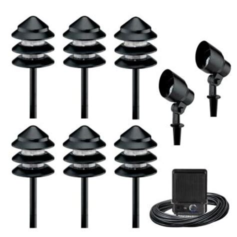 home depot outdoor lighting kits malibu 8 light outdoor black tier flood light kit 8301