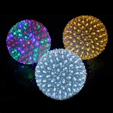 christmas led ball lights of peach flower romantic magic