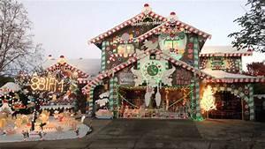 Gingerbread, House, Christmas, Lights