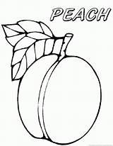 Peach Coloring Sheet Fruit Template Emoji Fruits Templates sketch template