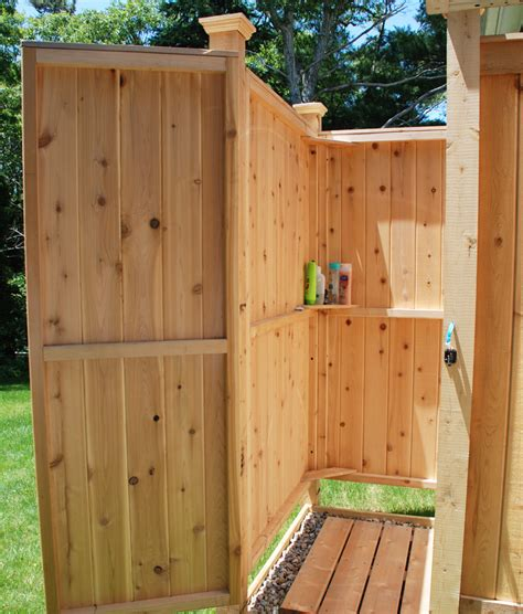 outdoor shower kit outdoor shower enclosure cedar showers ct nh ri vt me ny nj
