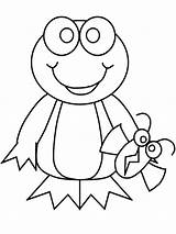 Frog Coloring Pages Printable Animal sketch template
