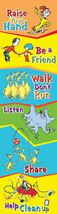 Dr Seuss Height Chart Seuss Cat In The Hat Class Rules Poster Classroom Rules