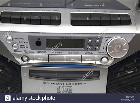 Radio Cassette Recorder by Sanyo Portable Cd Radio Cassette Recorder Stock Photo