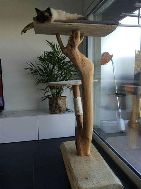 arbre 224 chat en bois flott 233 animaux design et sisal