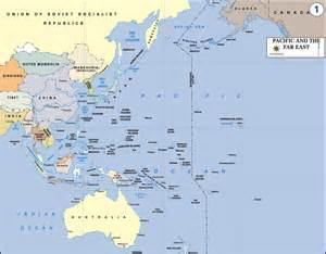 The Far East and World War 2 Pacific Map