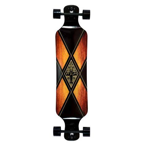 Atom 39 Drop Deck Longboard Artisan Brown by Atom 39 Quot Drop Deck Longboard Woody X Longboard Ee