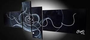 Tableau Contemporain Grand Format : tableau art abstrait abstrait moderne choc temporel ~ Teatrodelosmanantiales.com Idées de Décoration