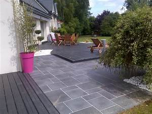 amenagement d39une terrasse dallage melange avec composite With amenagement piscine en bois 7 creation terrasse nantes loire atlantique terrasse de