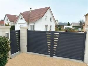 Portail De Maison : derval ensemble portillon et portail coulissant en ~ Premium-room.com Idées de Décoration
