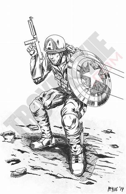 Captain America Wwii Pencil Sketch Deviantart Pencils