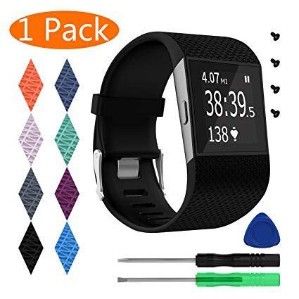 surge replacement fitbit band bands slashitems accessory silicone wristband