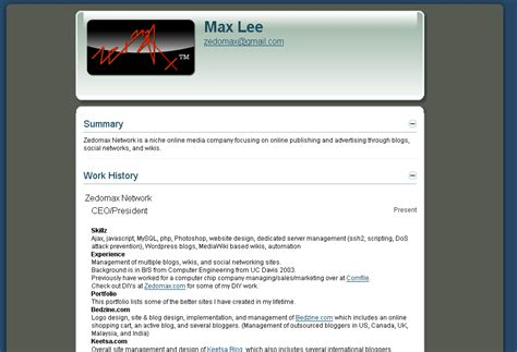 Cool Interactive Resume by Web2 0 Expo 2008 How To Build A Web 2 0 Interactive