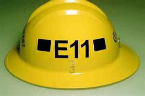 Firefighter signs lake arrowhead crestline running for Fire helmet name lettering