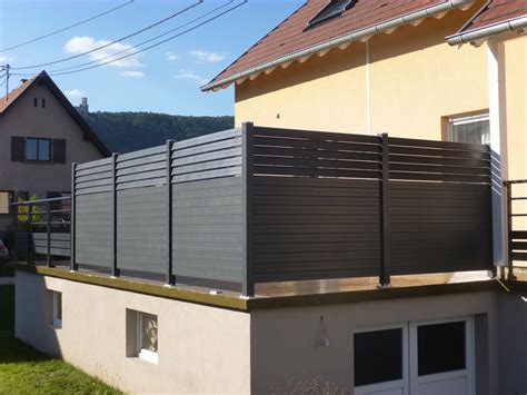 Brise vue bois terrasse brise vue transparent pour balcon | Exoteck