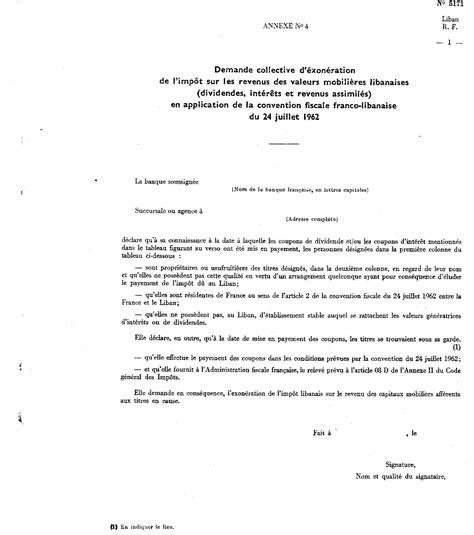 au bureau la garde demande collective d 39 exonération de l 39 impôt libanais à la