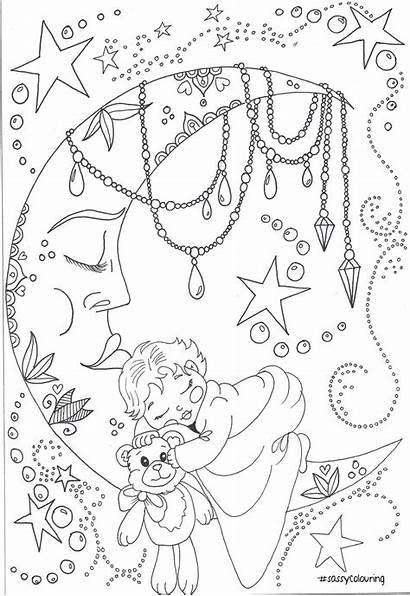 Coloring Adult Coloriage Noel Printable Moon Mandala
