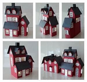 Haus Aus Pappe Basteln : rotes haus 2 haus aus pappe h user basteln und glitter h user ~ A.2002-acura-tl-radio.info Haus und Dekorationen