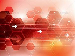 Abstract Red Technology Background | GraphicRiver