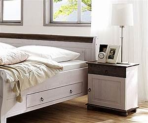 Schlafzimmer 8teilig Kiefer Massiv 2farbig Wei Kolonial