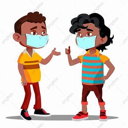 Quarantine American Masks Medical Afro Faces African