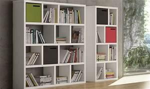 Bibliothèque Design Meuble : cube de rangement en bois pour bilbioth que berlin coloris au choix ~ Voncanada.com Idées de Décoration