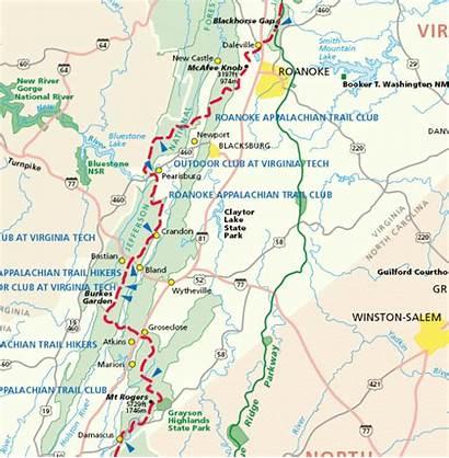 Appalachian Trail Virginia Map Toursmaps Dubai Sun