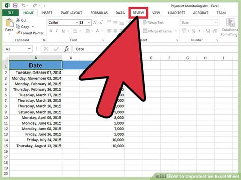 excel unprotect sheet 3 ways to unprotect an excel sheet wikihow