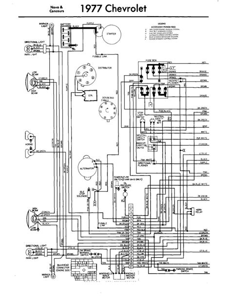 chevy nova  diagrama electrico parte  novass