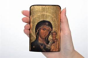 Acrylfarben Auf Holz : madeheart gedruckte ikone auf holz gottesmutter mit kind ~ Orissabook.com Haus und Dekorationen