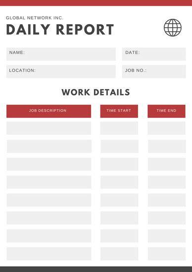 customize  daily report templates  canva