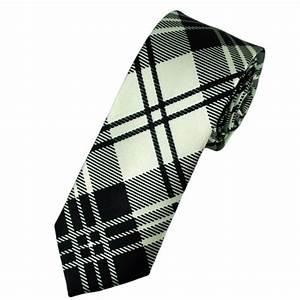 Ties Planet Black & White Check Skinny Tie from Ties Planet UK