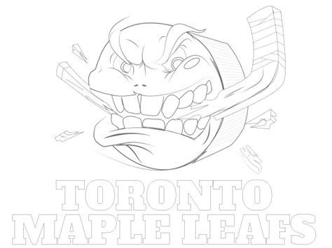 printable toronto maple leafs coloring sheet nhl